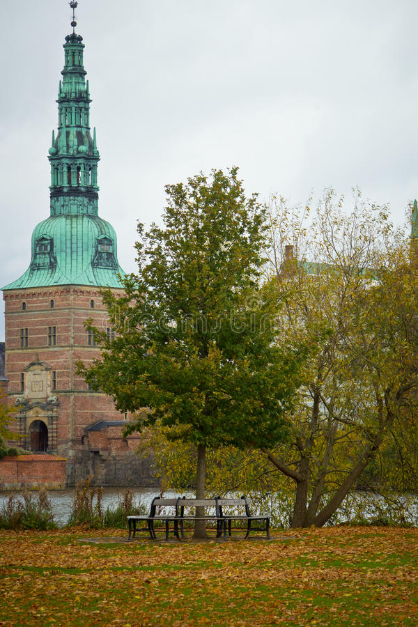 Αυλάκωση του Frederiksborg σε Hilleroed στοκ εικόνα