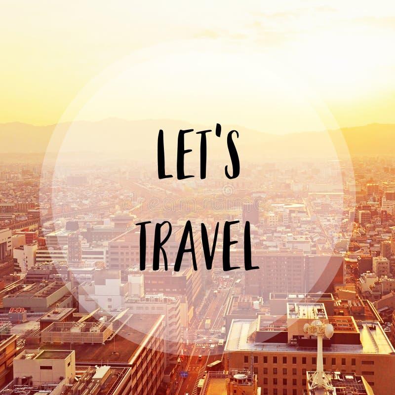 Αφήστε το s να ταξιδεψει στην πόλη του Κιότο στοκ εικόνες