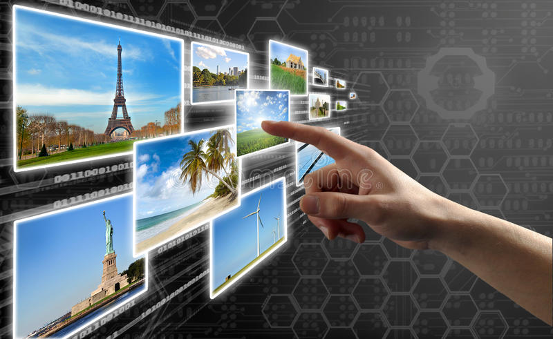 αφή οθόνης διαπροσωπειών στοκ φωτογραφίες με δικαίωμα ελεύθερης χρήσης