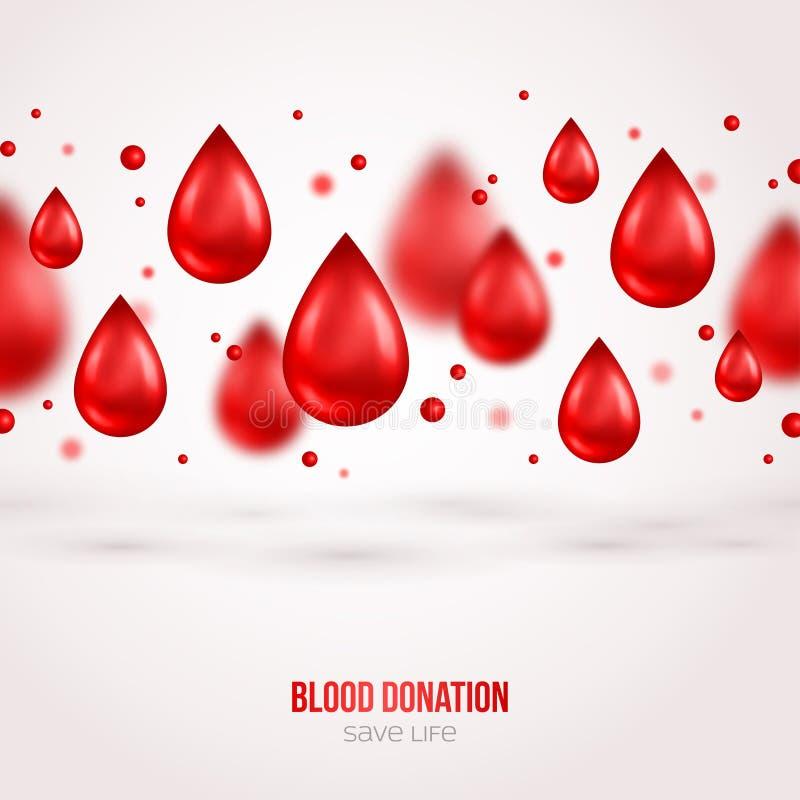 Αφίσα ή ιπτάμενο χορηγών Διάσωση δωρεάς αίματος ελεύθερη απεικόνιση δικαιώματος