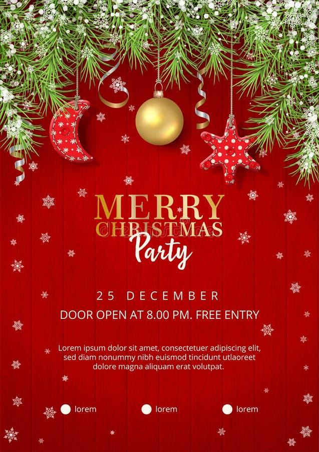 Αφίσα γιορτής Χριστουγέννων διανυσματική απεικόνιση