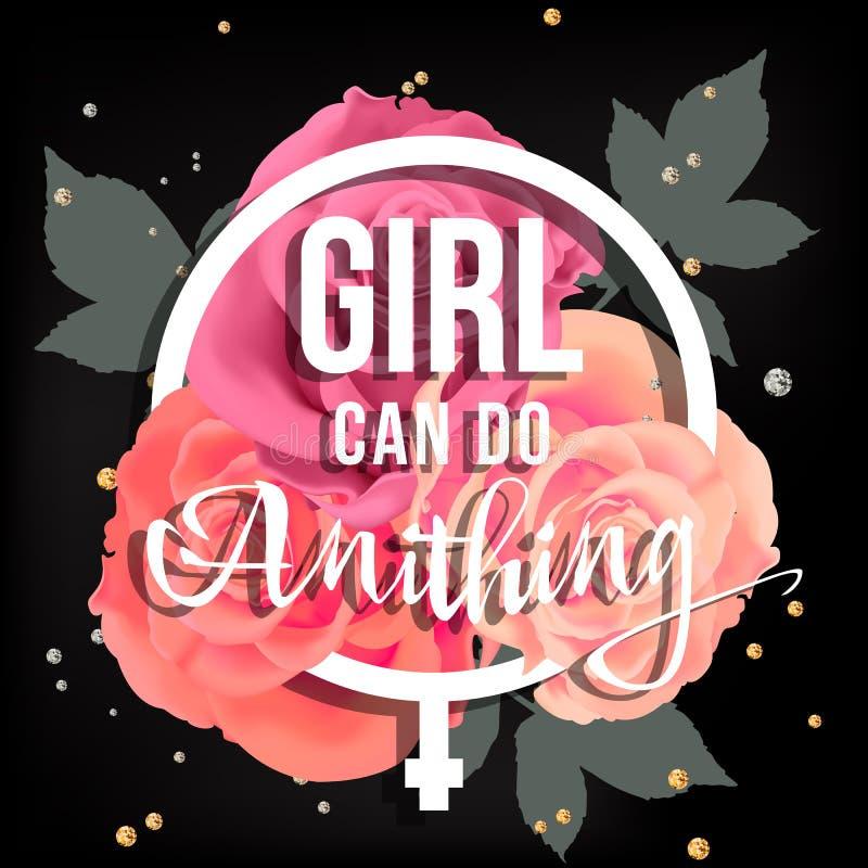 Αφίσα δύναμης κοριτσιών ελεύθερη απεικόνιση δικαιώματος