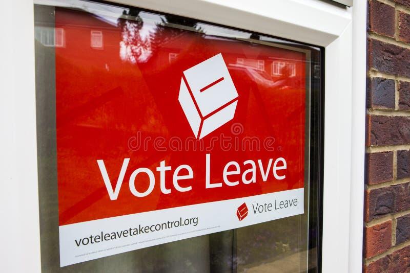 Αφίσα εκστρατείας άδειας ψηφοφορίας στοκ φωτογραφία με δικαίωμα ελεύθερης χρήσης