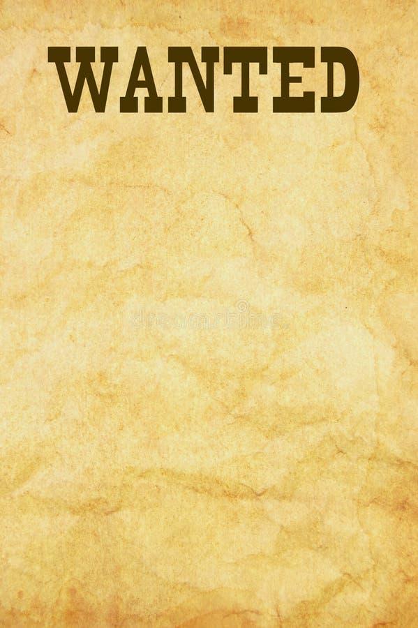 αφίσα επιθυμητή απεικόνιση αποθεμάτων