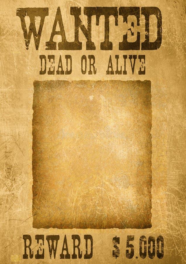 αφίσα επιθυμητή ελεύθερη απεικόνιση δικαιώματος