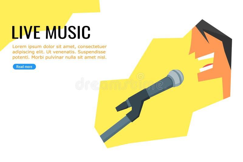 Αφίσα ζωντανής μουσικής διανυσματική απεικόνιση