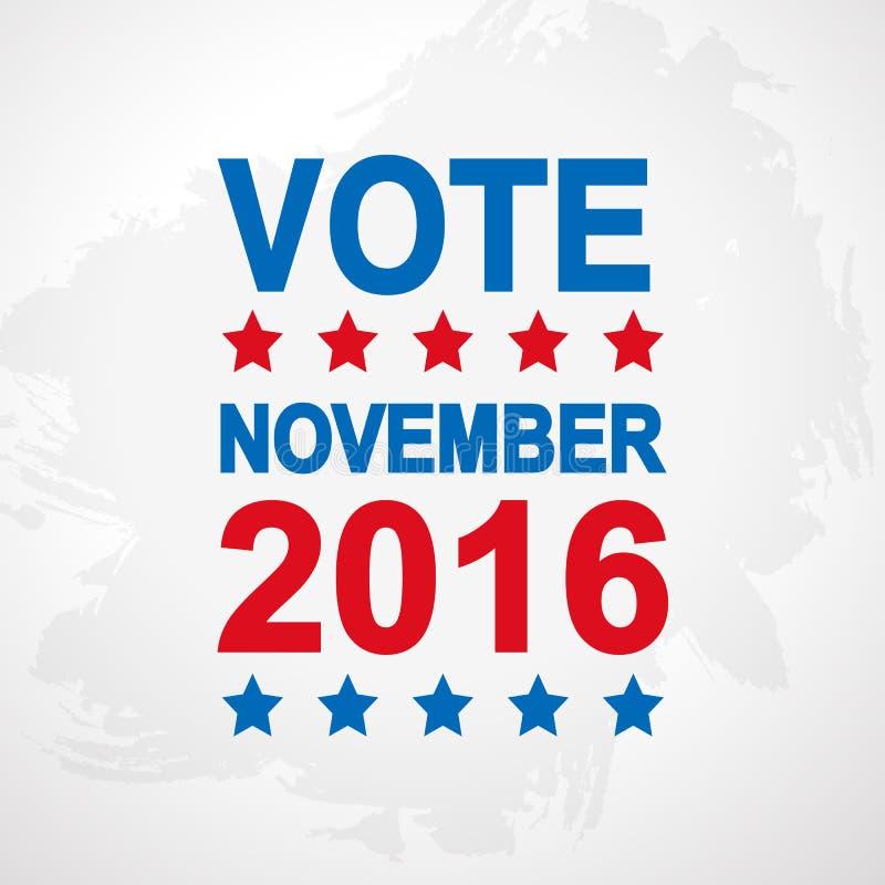 Αφίσα ημέρας εκλογής 2016 ΗΠΑ απεικόνιση αποθεμάτων