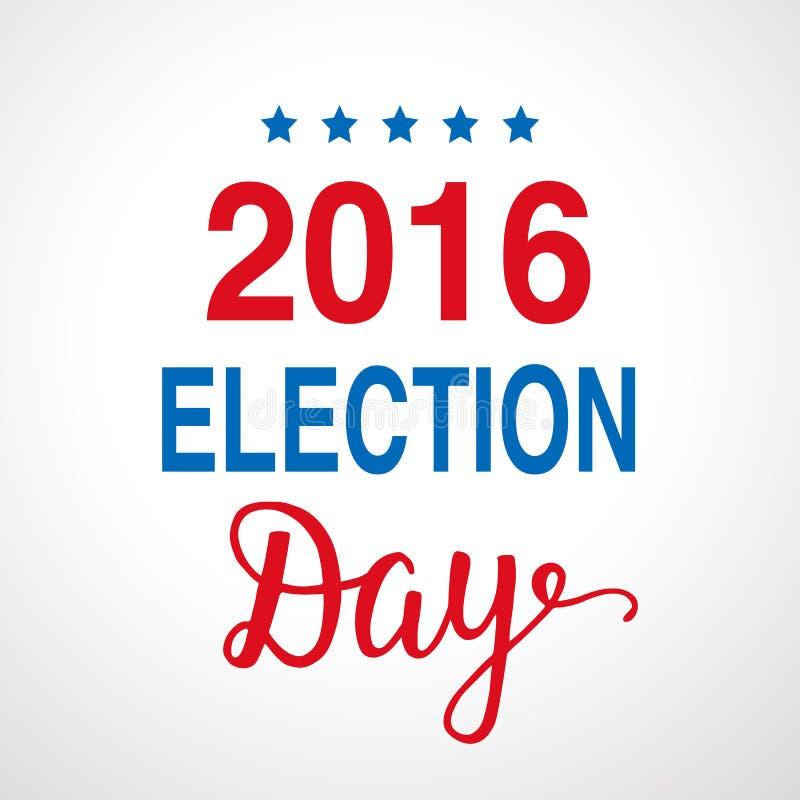 Αφίσα ημέρας 2016 εκλογής διανυσματική απεικόνιση