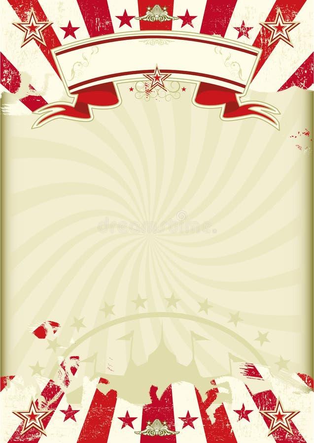 Αφίσα ηλιαχτίδων του Κραφτ τσίρκων ελεύθερη απεικόνιση δικαιώματος