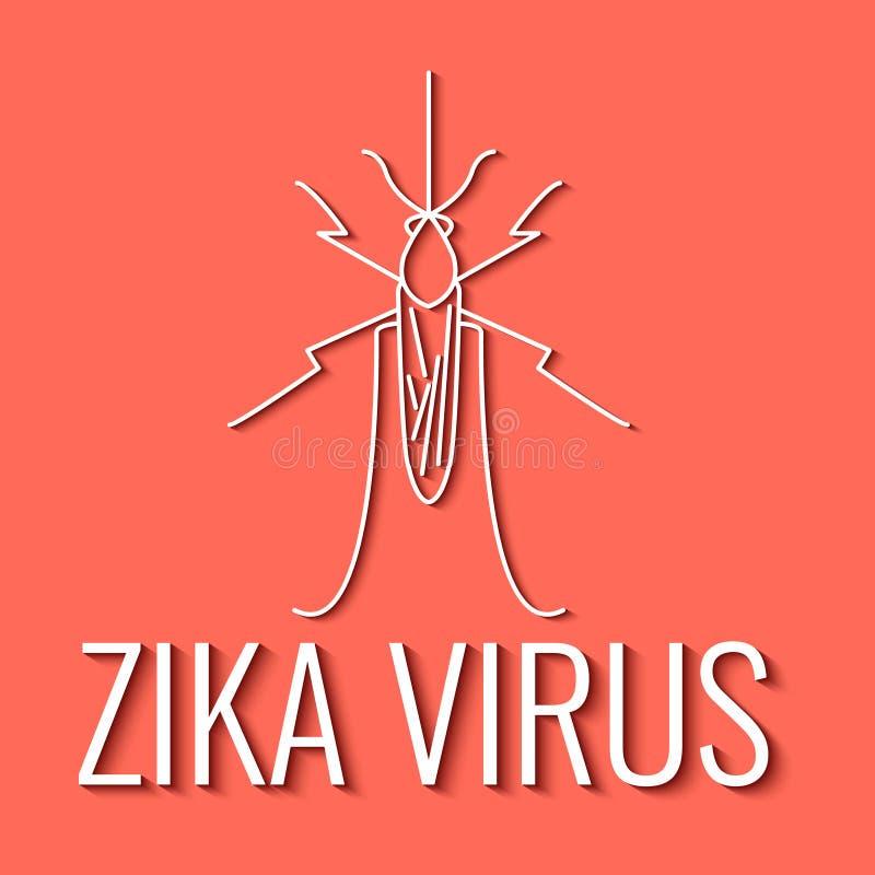 Αφίσα ιών Zika κουνουπιών απεικόνιση αποθεμάτων