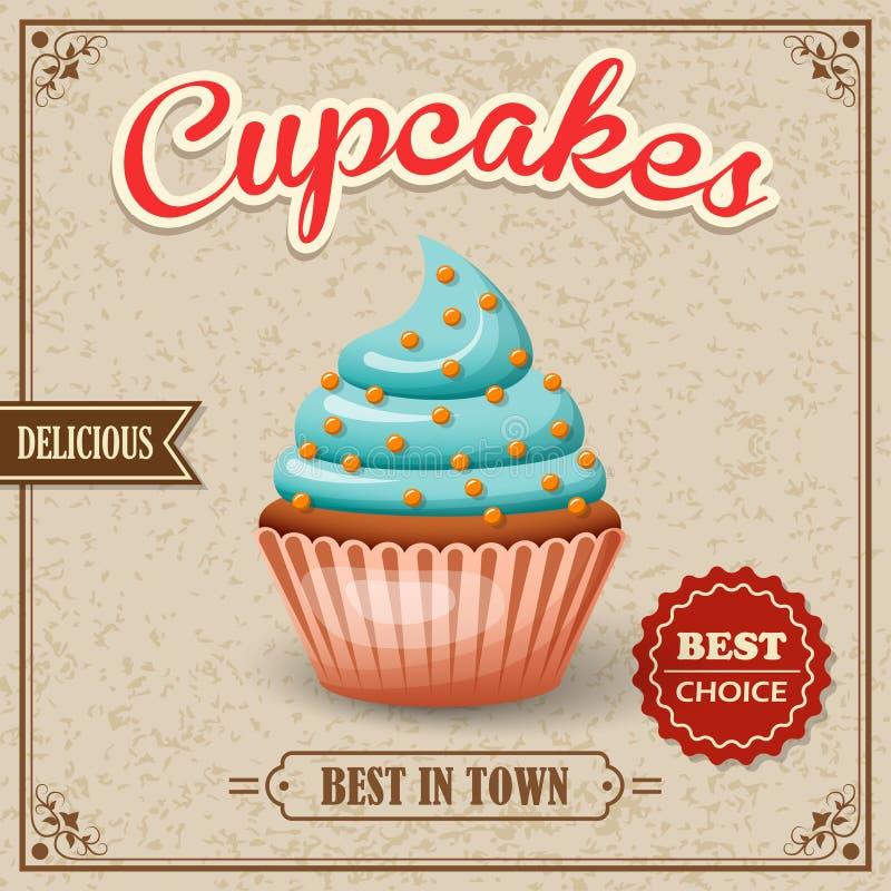 Αφίσα καφέδων Cupcake ελεύθερη απεικόνιση δικαιώματος