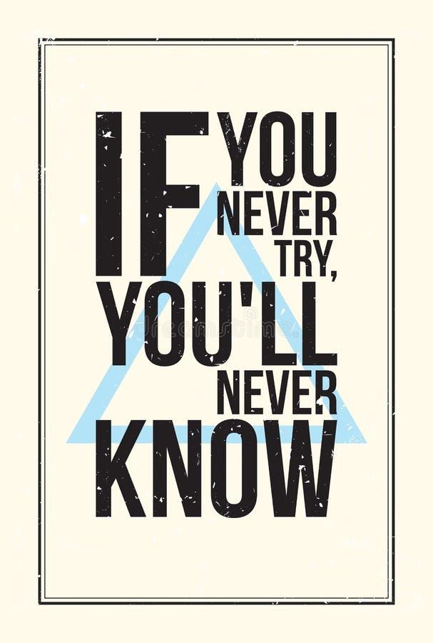 Αφίσα κινήτρου έμπνευσης Ύφος Grunge ελεύθερη απεικόνιση δικαιώματος