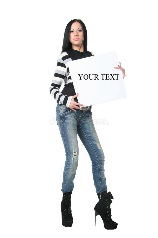 αφίσα κοριτσιών στοκ εικόνες με δικαίωμα ελεύθερης χρήσης