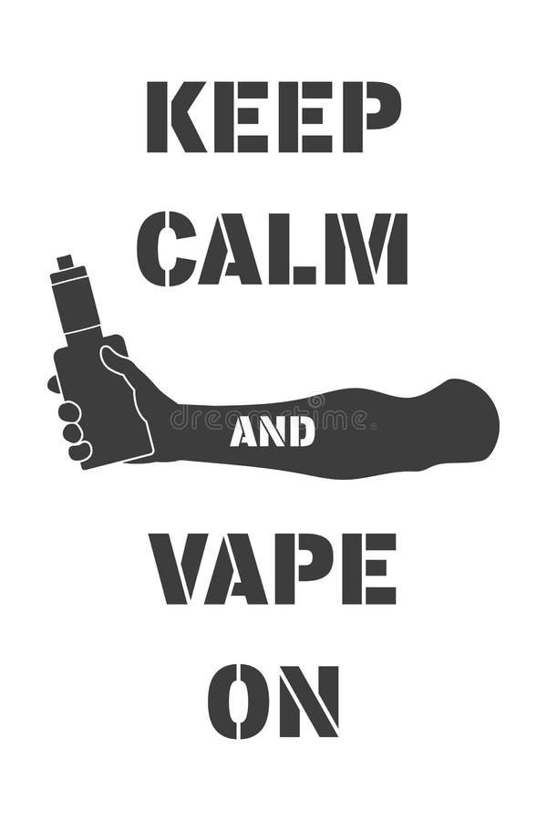 Αφίσα με το ηλεκτρονικό τσιγάρο διαθέσιμο απεικόνιση αποθεμάτων