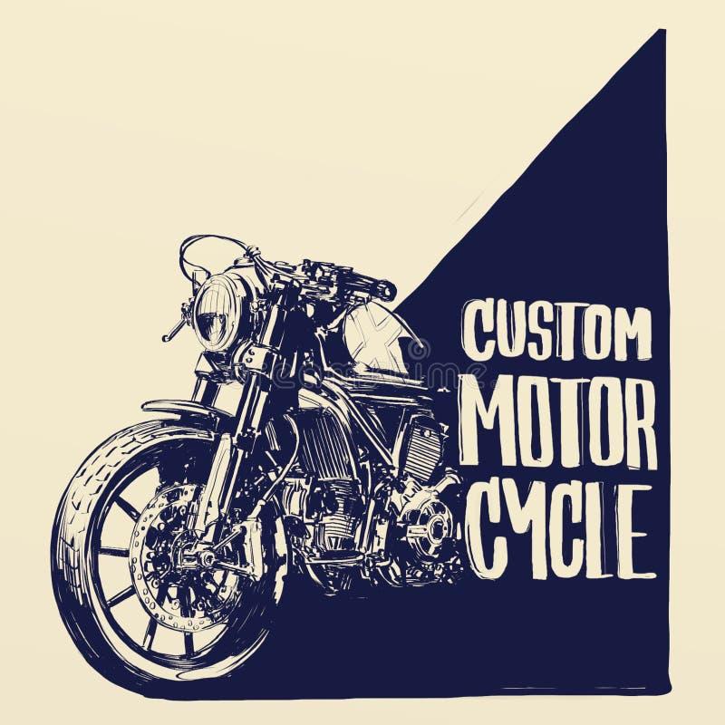 Αφίσα μοτοσικλετών συνήθειας στοκ φωτογραφία με δικαίωμα ελεύθερης χρήσης