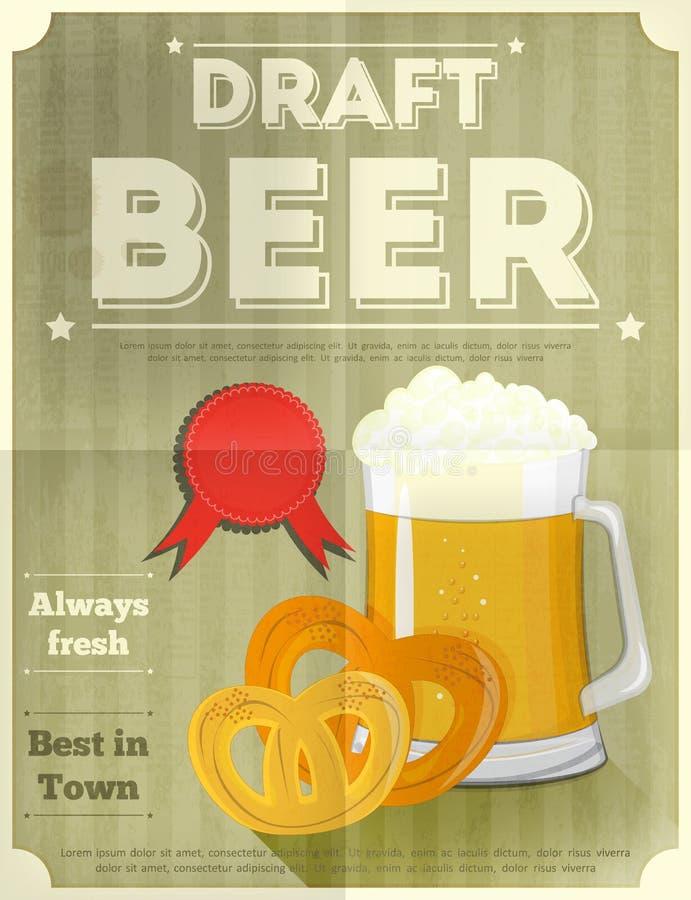 Αφίσα μπύρας ελεύθερη απεικόνιση δικαιώματος