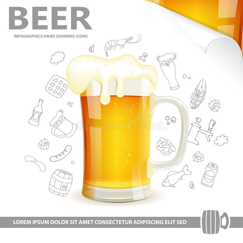 Αφίσα μπύρας απεικόνιση αποθεμάτων