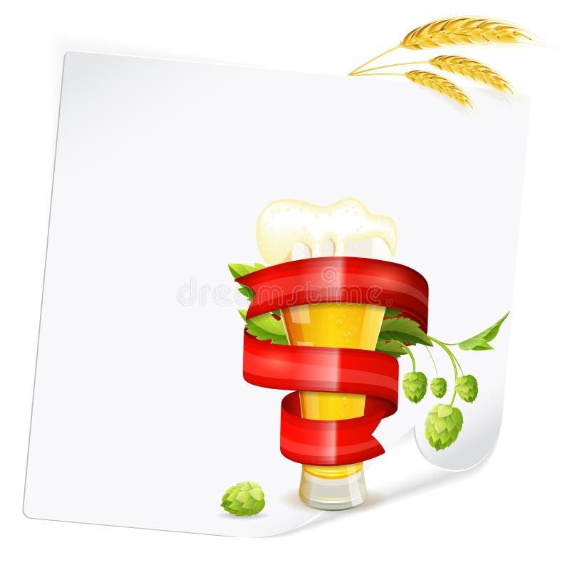 Αφίσα μπύρας διανυσματική απεικόνιση