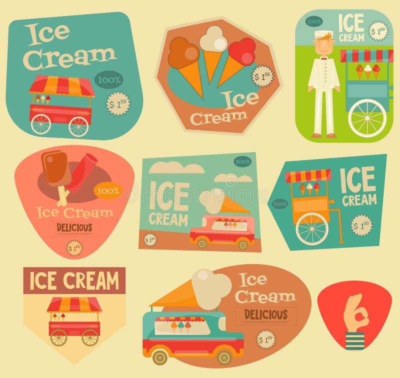 Αφίσα παγωτού απεικόνιση αποθεμάτων