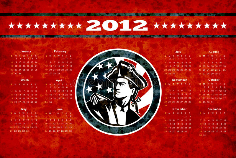 αφίσα πατριωτών ημερολογ& διανυσματική απεικόνιση