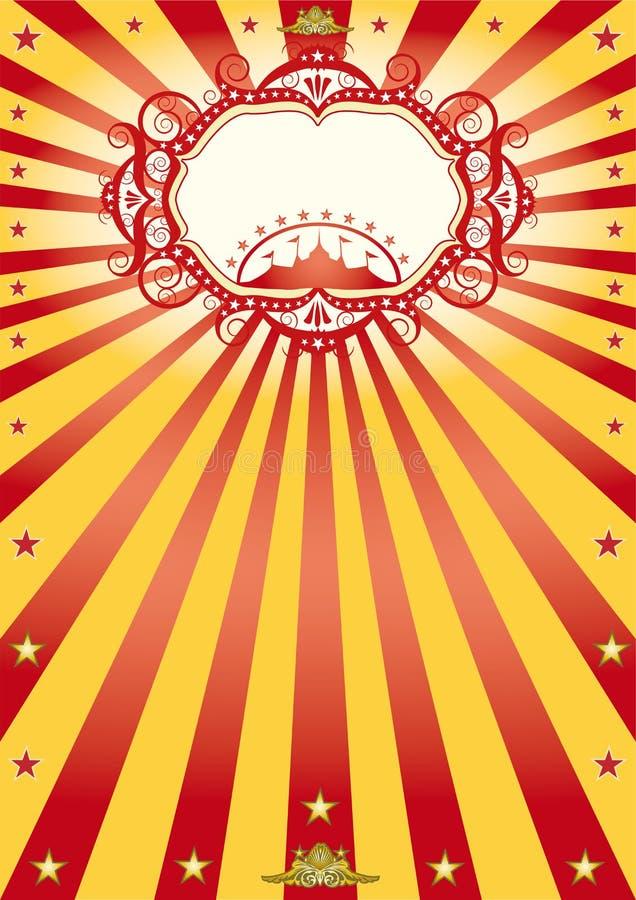 αφίσα πλαισίων τσίρκων διανυσματική απεικόνιση
