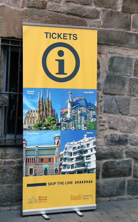 Αφίσα πληροφοριών τουριστών στη Βαρκελώνη στοκ εικόνες με δικαίωμα ελεύθερης χρήσης