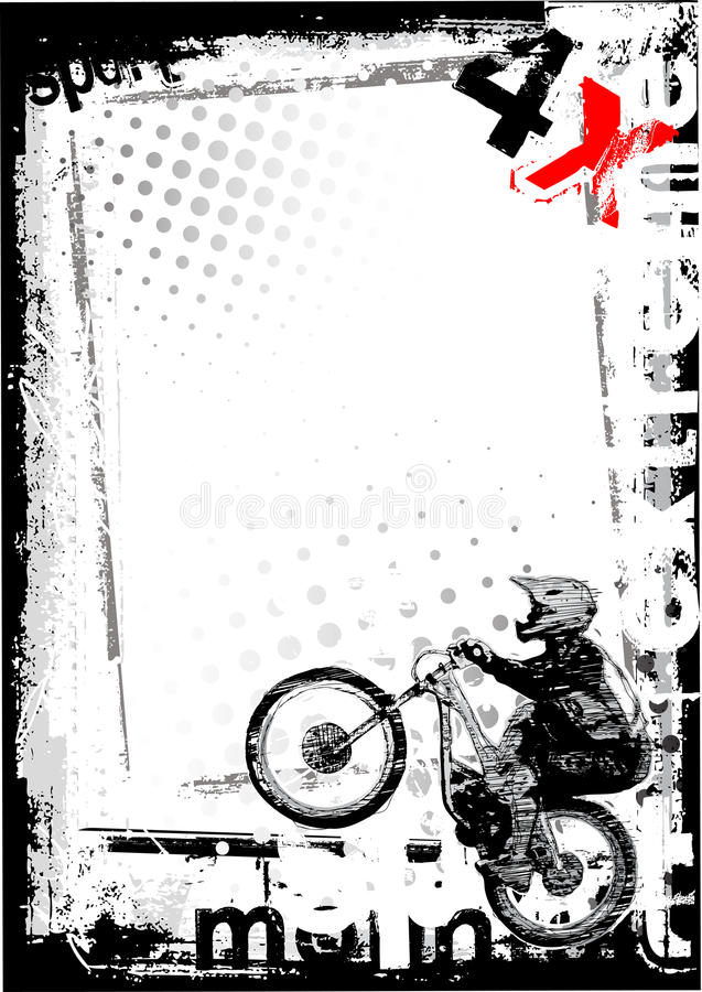 αφίσα ποδηλάτων ανασκόπησ&e διανυσματική απεικόνιση