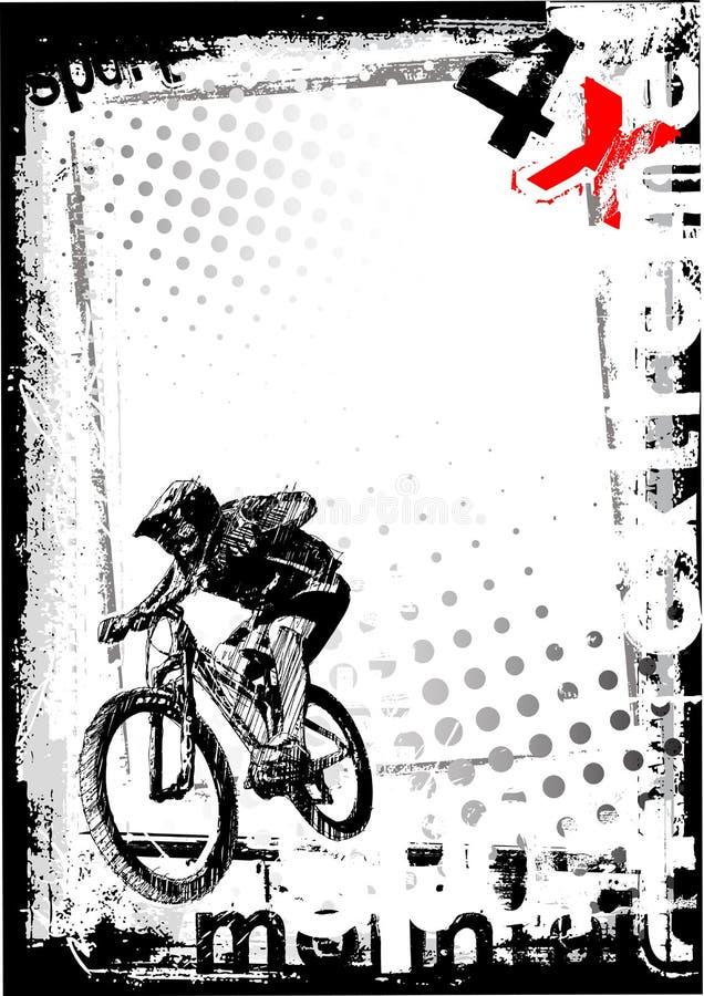 αφίσα ποδηλάτων 2 ανασκόπησ ελεύθερη απεικόνιση δικαιώματος