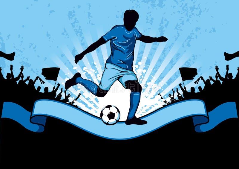 αφίσα ποδοσφαίρου διανυσματική απεικόνιση