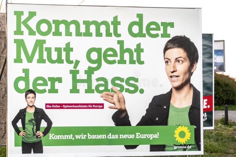 Αφίσα πολιτική καμπάνια πρασίνων συμμαχίας 90/The στοκ εικόνες με δικαίωμα ελεύθερης χρήσης