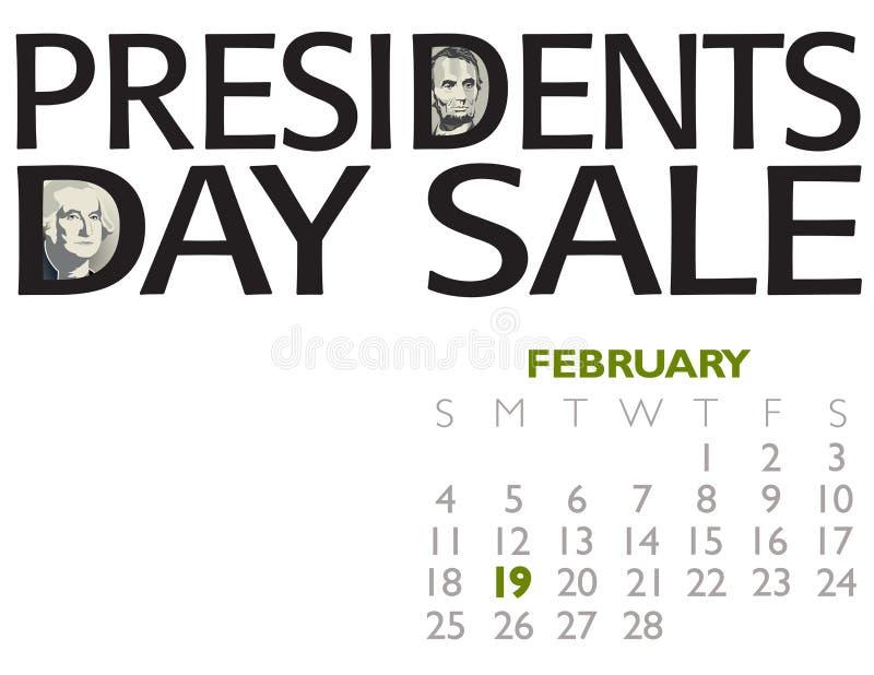 Αφίσα πώλησης Προέδρων Day ελεύθερη απεικόνιση δικαιώματος