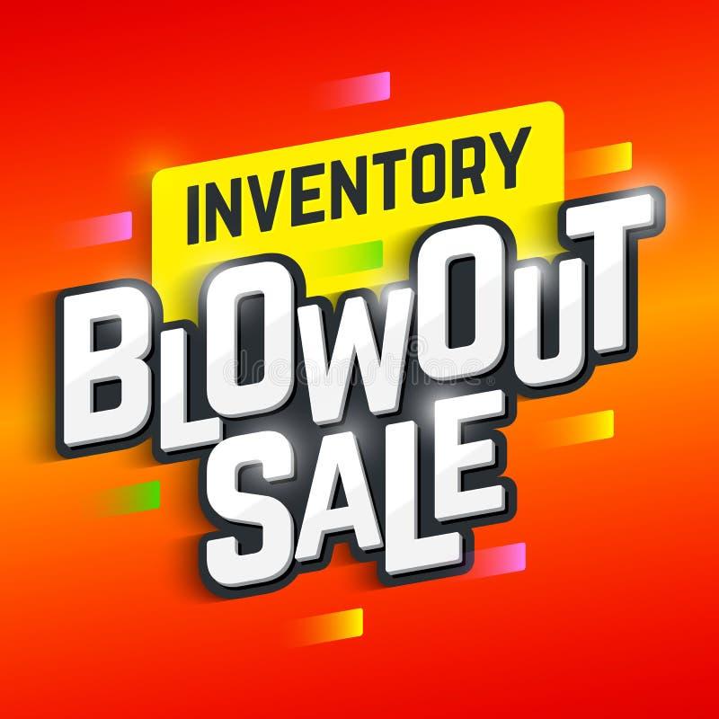 Αφίσα πώλησης εκρήξεων καταλόγων διανυσματική απεικόνιση