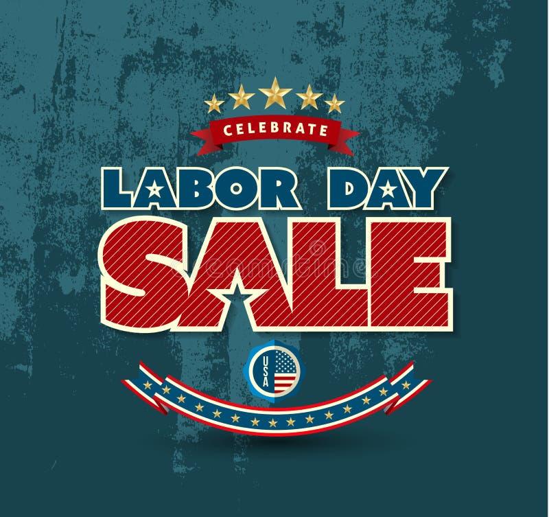 Αφίσα πώλησης Εργατικής Ημέρας ελεύθερη απεικόνιση δικαιώματος