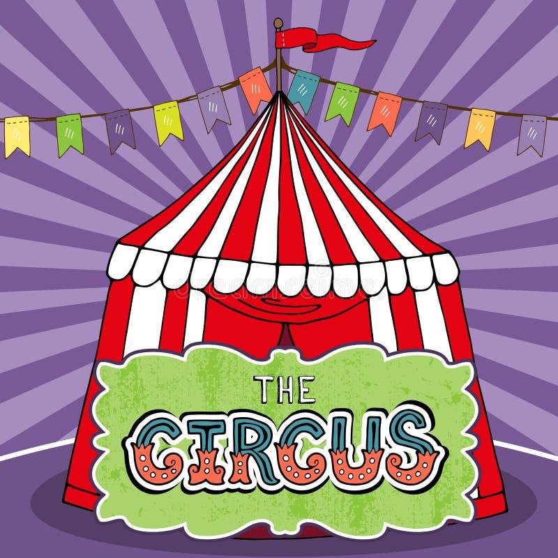 Αφίσα σκηνών τσίρκων ελεύθερη απεικόνιση δικαιώματος