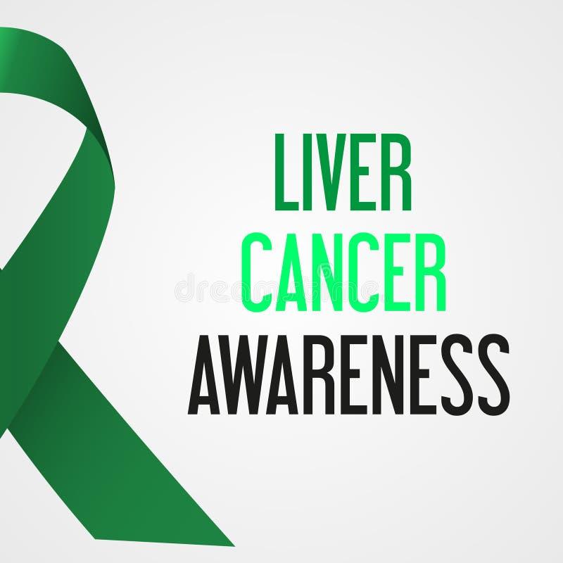 Αφίσα συνειδητοποίησης ημέρας καρκίνου παγκόσμιου συκωτιού απεικόνιση αποθεμάτων