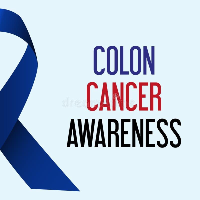Αφίσα συνειδητοποίησης ημέρας παγκόσμιου καρκίνος του παχέος εντέρου διανυσματική απεικόνιση