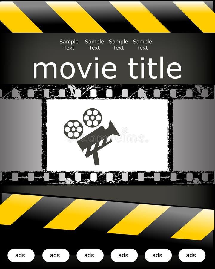 αφίσα σχεδίου κινηματογ απεικόνιση αποθεμάτων