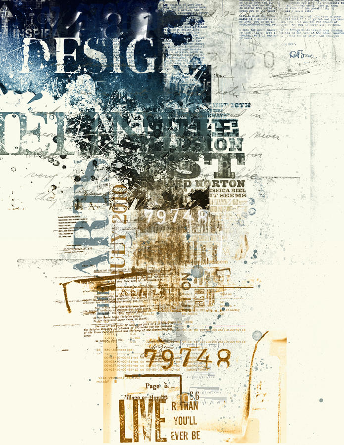 αφίσα τέχνης στοκ εικόνα