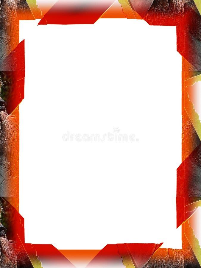 αφίσα τριχώματος συνόρων Στοκ Εικόνα
