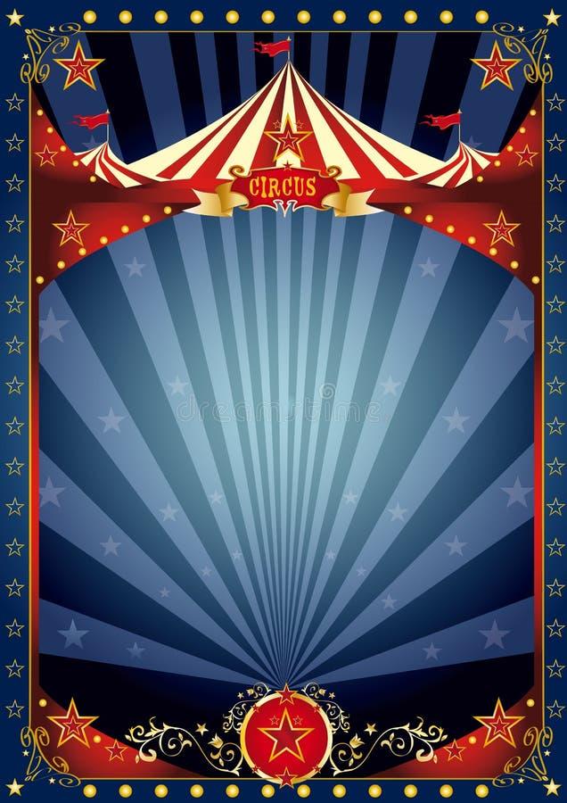 Αφίσα τσίρκων νύχτας διασκέδασης στοκ φωτογραφίες με δικαίωμα ελεύθερης χρήσης