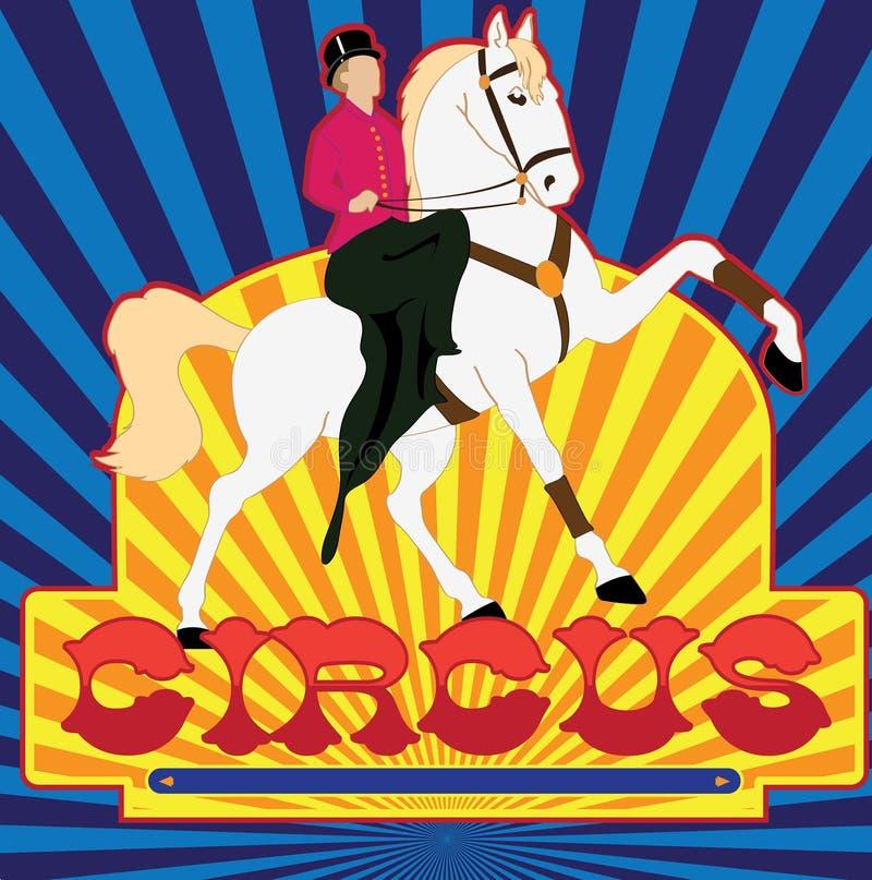 αφίσα τσίρκων διανυσματική απεικόνιση