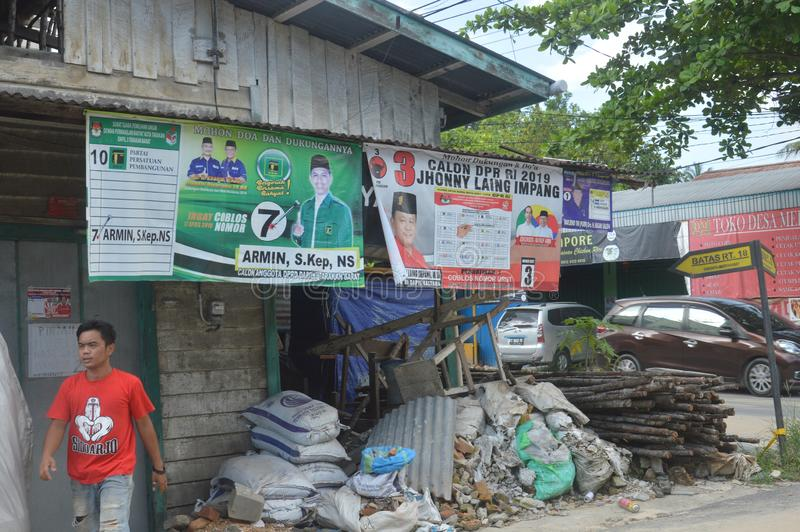 Αφίσα των υποψηφίων για το νομοθετικό σώμα στοκ εικόνες