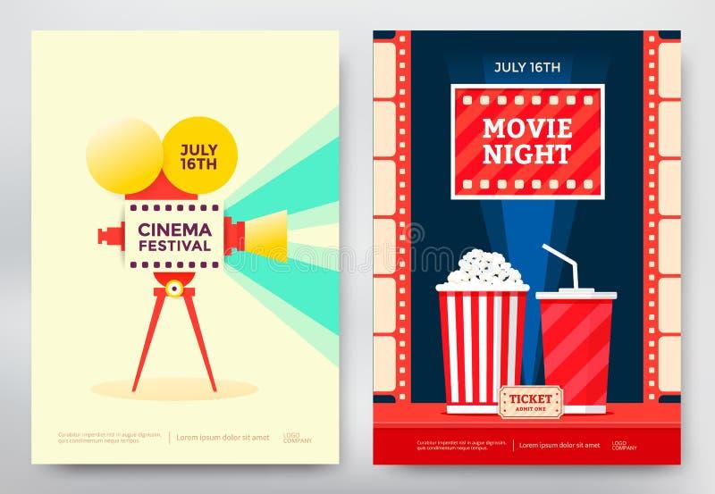 Αφίσα φεστιβάλ κινηματογράφων διανυσματική απεικόνιση