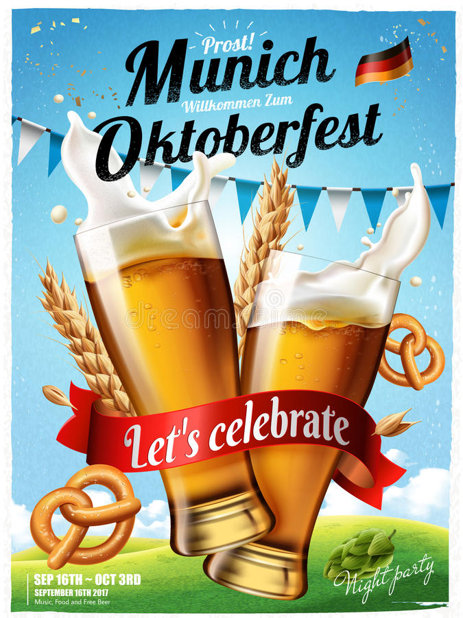 Αφίσα φεστιβάλ Oktoberfest διανυσματική απεικόνιση