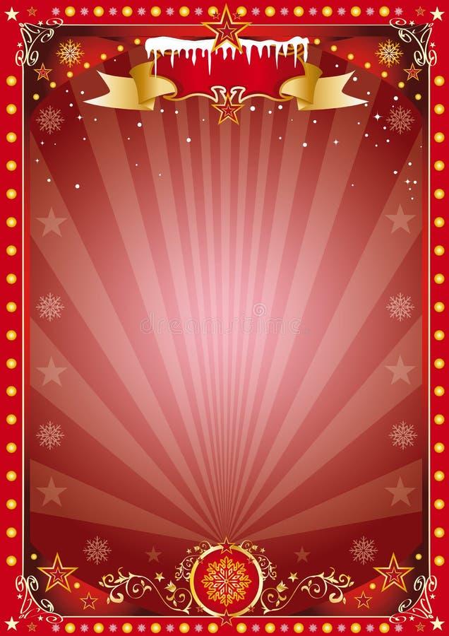 Αφίσα Χριστουγέννων διανυσματική απεικόνιση