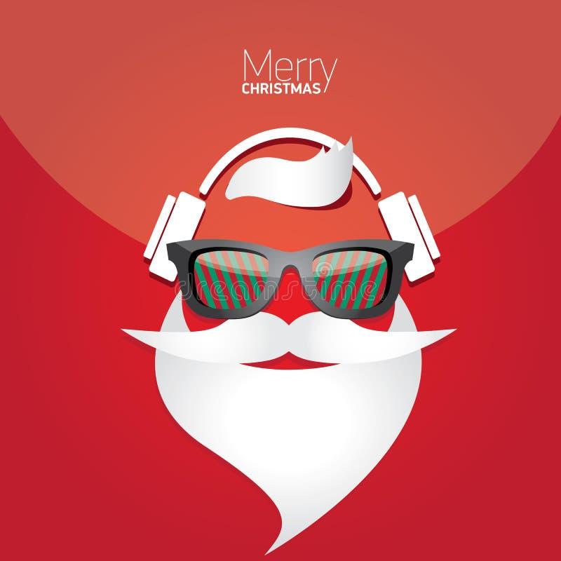 Αφίσα Χριστουγέννων hipster για το κόμμα ή την κάρτα. στοκ φωτογραφίες