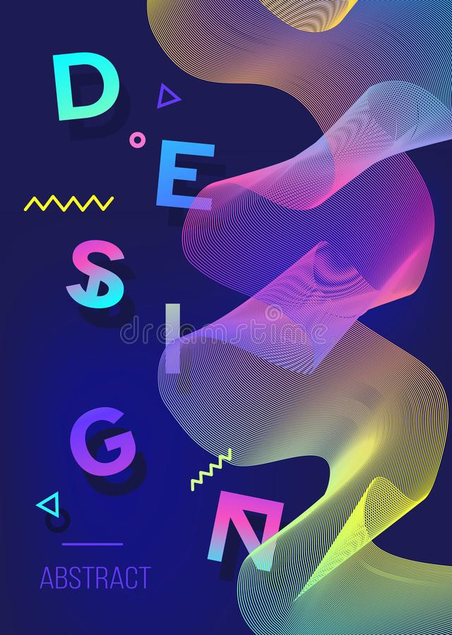 Αφίσα χρώματος φάσματος αφηρημένο σχέδιο σύγχρονο Γεωμετρικό backgro ελεύθερη απεικόνιση δικαιώματος