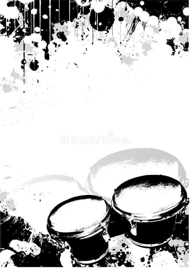 αφίσα bongos ανασκόπησης απεικόνιση αποθεμάτων