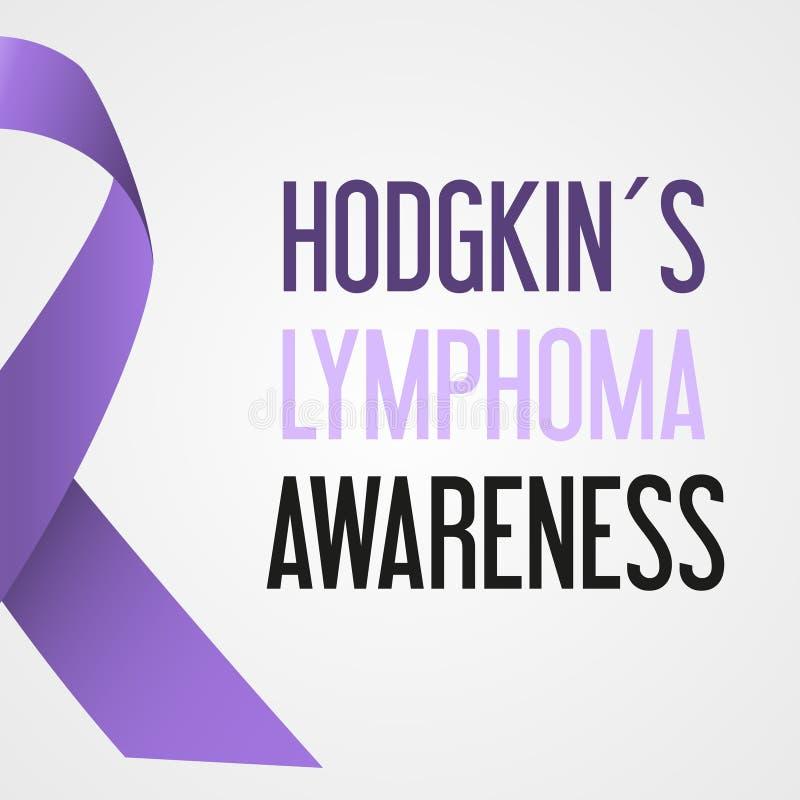 Αφίσα eps10 συνειδητοποίησης ημέρας καρκίνου παγκόσμιου hodgkin λεμφώματος ελεύθερη απεικόνιση δικαιώματος