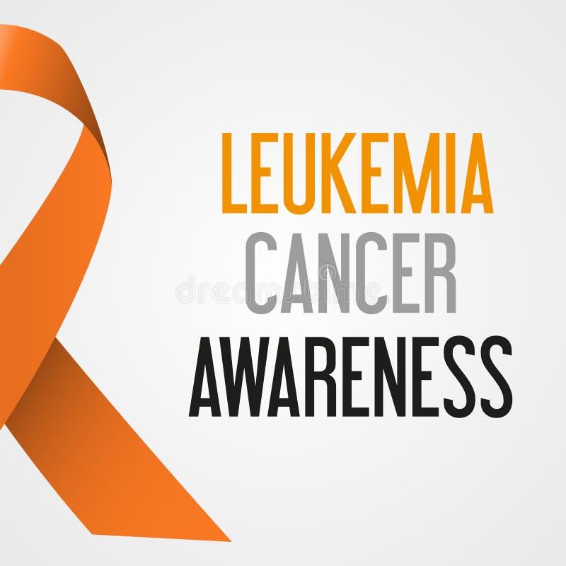 Αφίσα eps10 συνειδητοποίησης ημέρας καρκίνου παγκόσμιας λευχαιμίας απεικόνιση αποθεμάτων